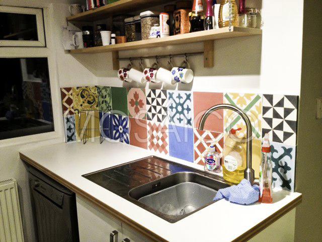 Galerie photo ciment cuisine Mosaico