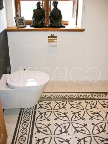 Galerie photo deuxi me w c mosaico - Zementfliesen bad ...